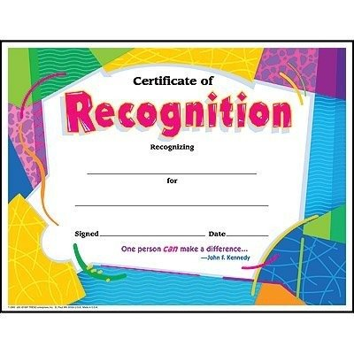TREND enterprises, Inc. Certificate of Recognition Colorful Classics Cert's, 30 - Recognition Templates Certificate