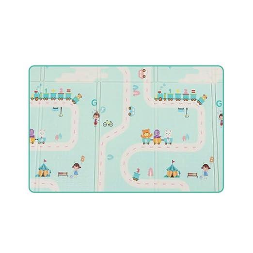 de doble cara port/átil para ni/ños peque/ños y beb/és(200 x 180 cm) Takefuns Alfombrilla de juegos para beb/é plegable impermeable reversible antideslizante extragrande
