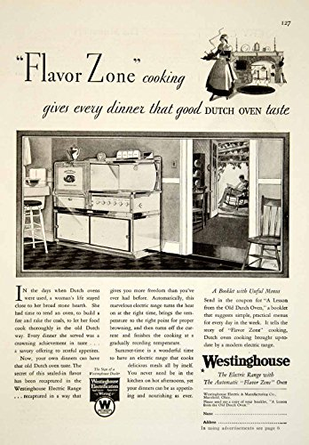 1929-Ad-Westinghouse-Electric-Range-Automatic-Flavor-Kitchen-Appliance-Oven-YGH2-Original-Print-Ad
