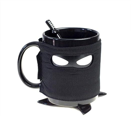 MumuXiDy Creative Ninja Cup Black Mask Cuchara de cerámica ...