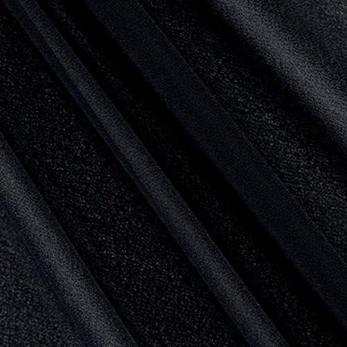 Ben Textiles Double Georgette Fabric, Black, Fabric by the yard