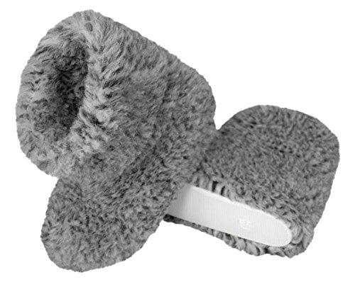 Colori Confortevoli Lana Unisex Vari Line Natural Grey amp;black Imbottitura Pecora Pantofole In Di Calde Con E PwT4OU