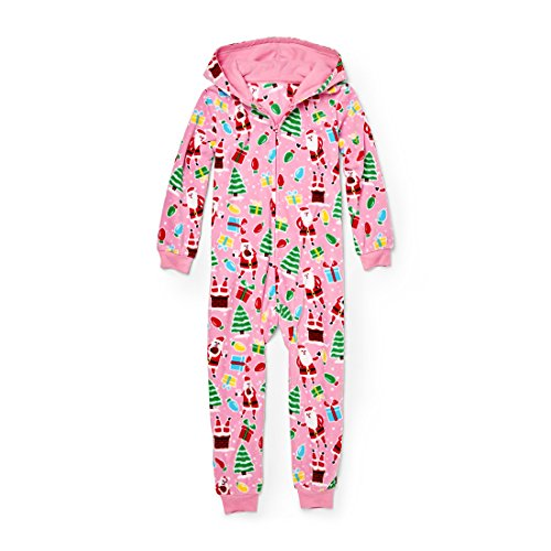 The Children's Place Baby Big Boys' Christmas Long Sleeve One-Piece Pajamas, Pink Icing 91762, - Pajamas Pink Childrens