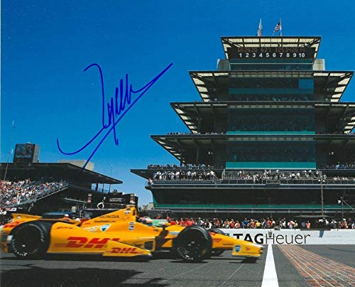 Ryan Hunter Signed Photo - REAY 8x10 INDY 500 IRL INDY COA - Autographed College Photos ()