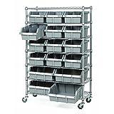 Seville Classics SHE16510 Commercial 7-Shelf Bin Rack System