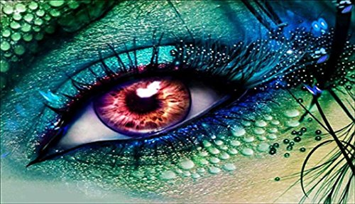 - Franterd Green Eyes - 5D DIY Diamond Painting By Number Kits Crystal Embroidery Rhinestone Full Drill Cross Stitch Art Craft Pasted in Oil Painting Canvas Home Decor