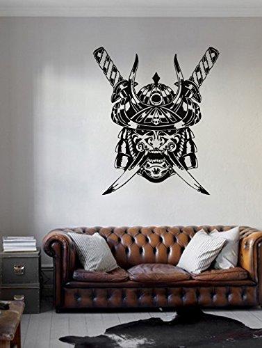 ik971 Wall Decal Sticker samurai warrior mask soldier bedroom