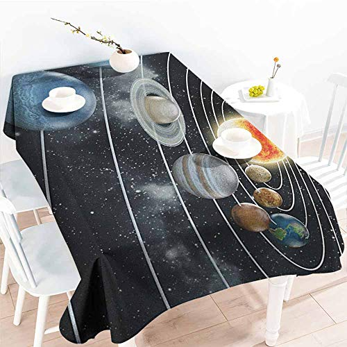 Galaxy,Table Cloth for Outdoor Picnic Solar System All
