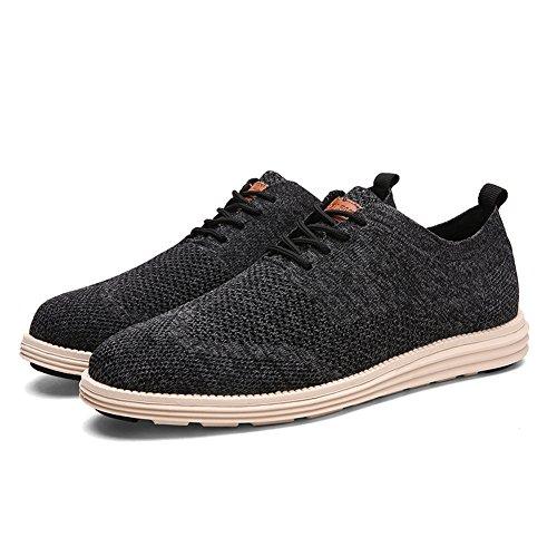 - Men Casual Shoes Fashion Sneakers Business Formal Oxfords Dress Shoes Breathable Light Men Shoes (US 10.5-EUR 45, Black)