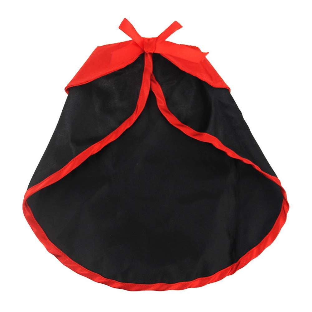 SDGDFXCHN Costume Noir Animaux de Compagnie Halloween Costume Chien Chats Halloween Cape Vêtements Transfiguration Cape Vampire
