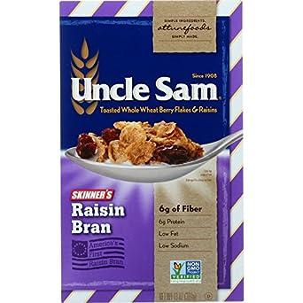 Amazon Com Uncle Sam Cereal Cereal Skinners Raisin Bran 13 Oz