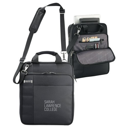 Sarah Lawrence Kenneth Cole Black Vertical Checkpoint Friendly Messenger 'Primary Mark' by CollegeFanGear
