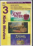 MGM Movie Collection 3 Kids Movies Snow White, Red Riding Hood, The Emperor's New Cothes DVD