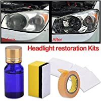 Headlight Restoration Kit, DIY Anti-Scratch Polishing for Car Headlight, Restore Headlights With Abrasive Rubbing Compound Eliminate Yellow Dull Or Foggy Restore Visibility and Clarity?10ml, 1PC?