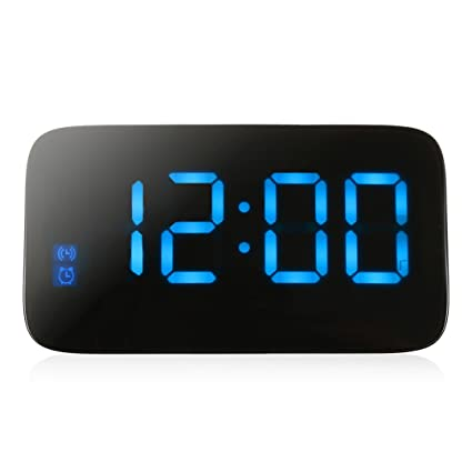 NAOZHONG Original Reloj Despertador Led Display Led De RetroiluminacióN Snooze ElectróNica De Control De Voz Digital