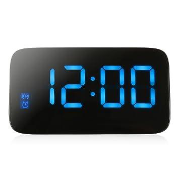 NAOZHONG Original Reloj Despertador Led Display Led De RetroiluminacióN Snooze ElectróNica De Control De Voz Digital De Sobremesa Reloj Relojes De Mesa Con ...
