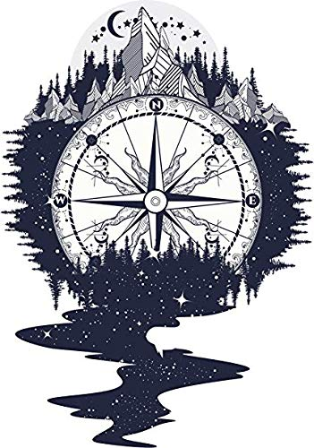 Cool Alaskan Wilderness Galaxy Compass Icon (12