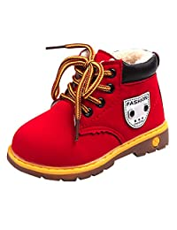 VEKDONE Baby Children Warm Boys Girls Martin Sneaker Snow Boots Kids Baby Casual Shoes