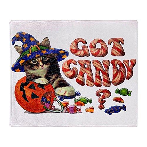 Stadium Throw Blanket Halloween Got Candy Kitten -