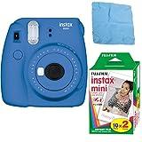 Fujifilm Instax Mini 9 (Cobalt Blue) w/Color Film (2-Pack / 20 Exposures)