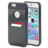 Apple iPhone 6 6s Shockproof Impact Hard Case Cover Hungary Hungarian Flag (Black )