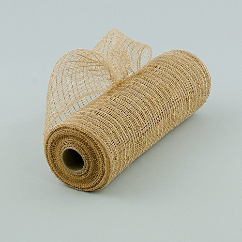 Poly Jute Burlap Deco Mesh, 10.5 Inches x 10 Yards (Natural) : RY800518 by Craig Bachman