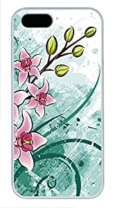 Case For Iphone 5/5S Cover Nature Flowers 2 PC Custom Case For Iphone 5/5S Cover Cover White