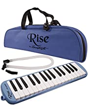Rise by Sawtooth ST-RISE-MEL-32-BLUE Piano Style Melodica, Blue