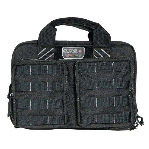 G.P.S. Tactical Quad Plus 2 Pistol Case Black GPS-1311PCB (Tactical Quad)