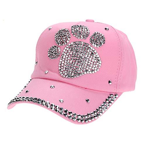 カジュアル 子供 野球帽子 女の子男の子 ダイヤモンド帽子,ピンク,プラムブロッサムプー