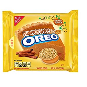 Oreo New Limited Edition Sandwich Cookie 1 Pack (Pumpkin Spice)