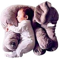 Vanni Adorable Elefante Almohada Altura 60 cm Peluche 8601.2 - Gris
