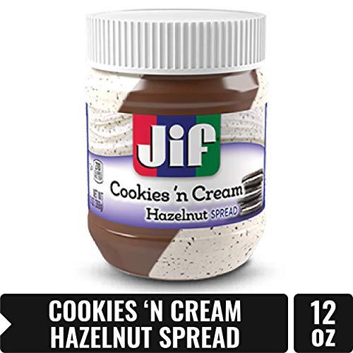 Jif Hazelnut Spread, Cookies and Cream, 13 Ounce -