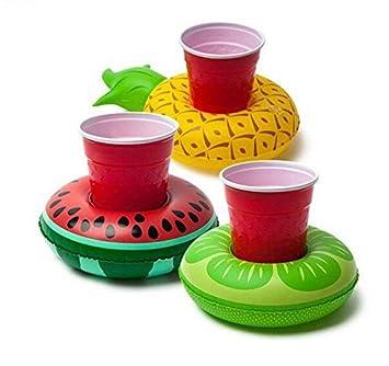 JHion Juego de 3 posavasos hinchables para piscina, piscina, fiesta, baño, verano, playa, agua, juguetes divertidos: Amazon.es: Hogar