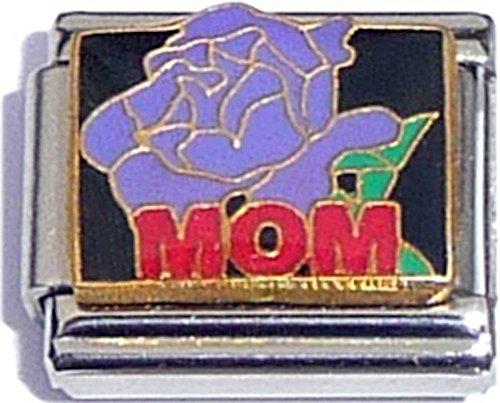 Mom With Purple Flower Italian Charm