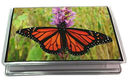 2 Year 2019-2020 Butterfly Photo Pocket Calendar Planner with Note Pad - Horizontal Monthly Pocket Planner