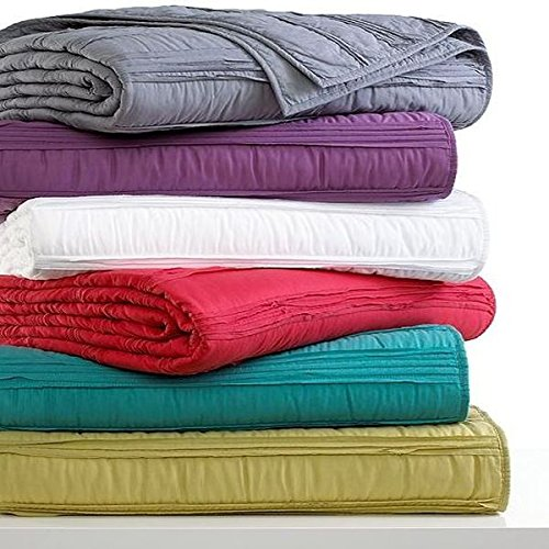 Bar lll Solid Ruffle Full / Queen Coverlet Teal