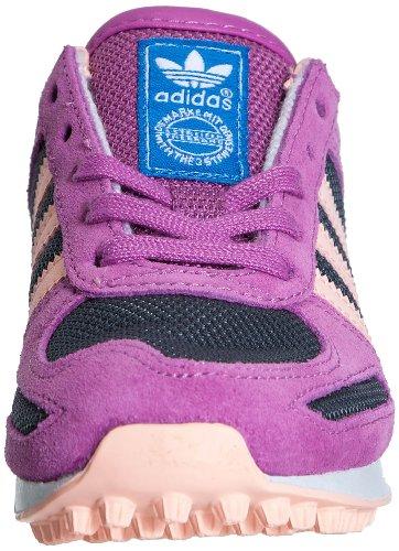 Adidas Originals LA Trainer K-5 - Zapatillas deportivas infantil púrpura - Lead/Glow Coral/Running White FTW