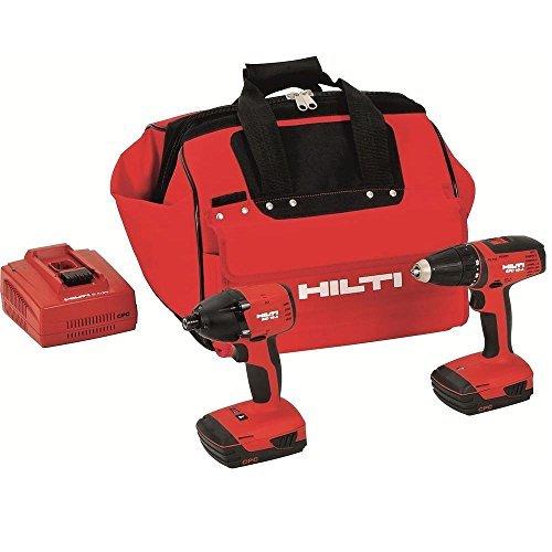 Hilti 3487032 18-Volt Lithium-Ion Cordless Drill Driver/Impact Driver Compact Combo Kit