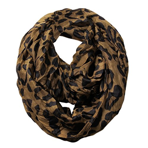 Scarfand's Leopard Infinity Scarf (Brown) ()