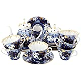 Lomonosov Porcelain Tea Set 6/14 Church Domes Orthodox Bells: Tea Pot, Sugar