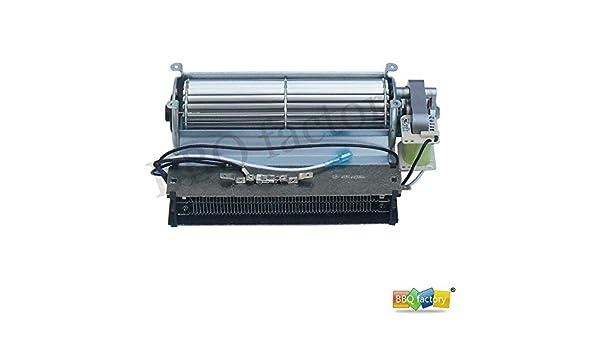 Chimenea de repuesto ventilador soplador con calefacción elemento para Twin Star - Chimenea eléctrica y otros madera/Gas estufa de leña o chimenea: ...