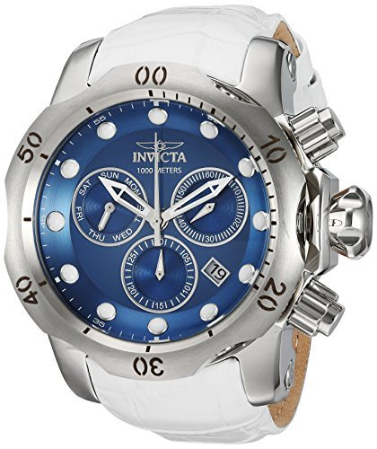 Invicta Men's 'Venom' Quartz Stainless Steel and Leather Casual Watch Color:White (Model: 24350) [並行輸入品] B078BX6PJQ