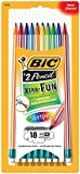 BIC Xtra-Fun Stripes Graphite Pencil, 2 HB, 18-Count