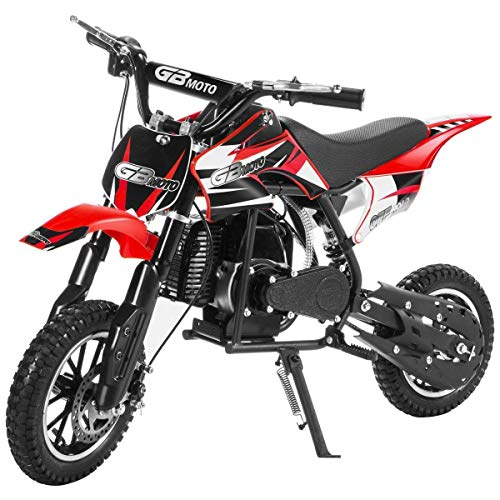 (49CC 2-Stroke Gas Power Mini Dirt Bike,Pit Bike Dirt Off Road Motorcycle, Scooter (Red) )