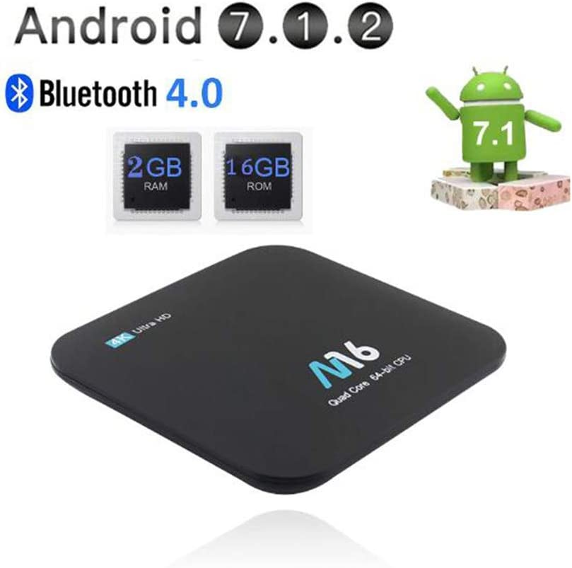 SUNMY Android Mini TV Box, Android 7.1 Smart TV Box [2GB RAM + 16GB ROM] CPU Amlogic S905W De Cuatro Núcleos, Dispositivo Multimedia H.265 4K WiFi 2.4Ghz: Amazon.es: Electrónica
