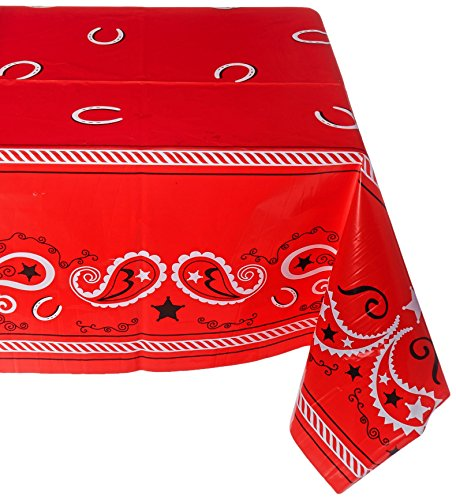 Beistle 57106 Western Tablecover, 54 by - Texas Supplies Party