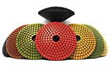Z-LION 4 Inch Diamond Convex Polishing Pad with 5/8''-11 Thread Backer Pad Convex Disc for Marble Granite
