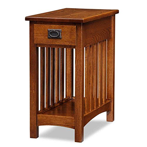 Leick Furniture Mission Side Table, Medium Oak