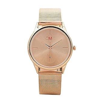 Reloj para Hombre Vestido de Moda para Hombre Reloj de Pulsera con Banda de Malla Reloj de Cuarzo de Acero Inoxidable Casual único Reloj de Negocios clásico ...